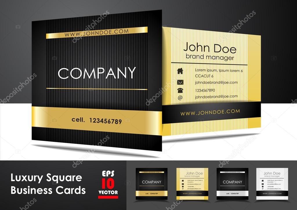 Luxus Quadrat Visitenkarten Stockvektor Miobra 53834155