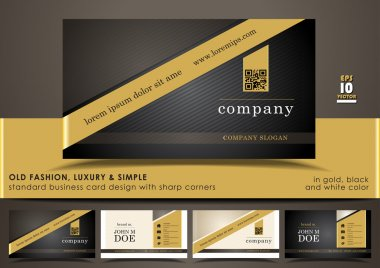 Creative & elegant standard vertical business card design with rounded top