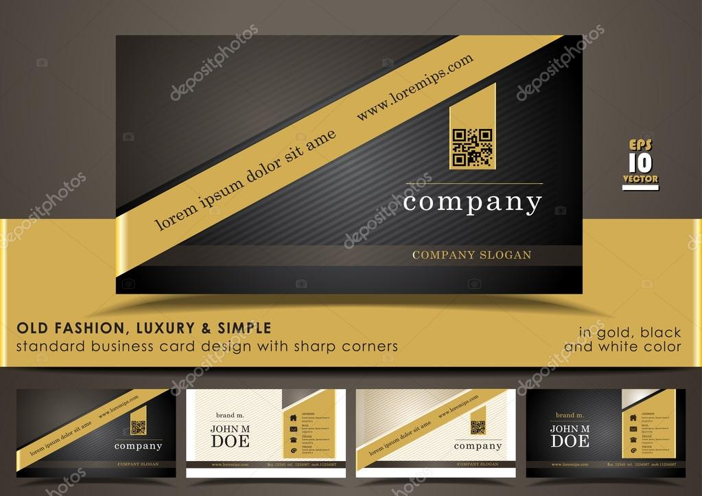 Creative & elegant standard vertical business card design with ...