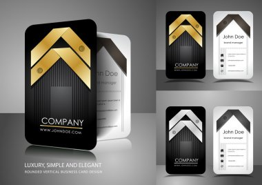 Business card design with ribbons
