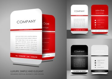 Light vertical business card design