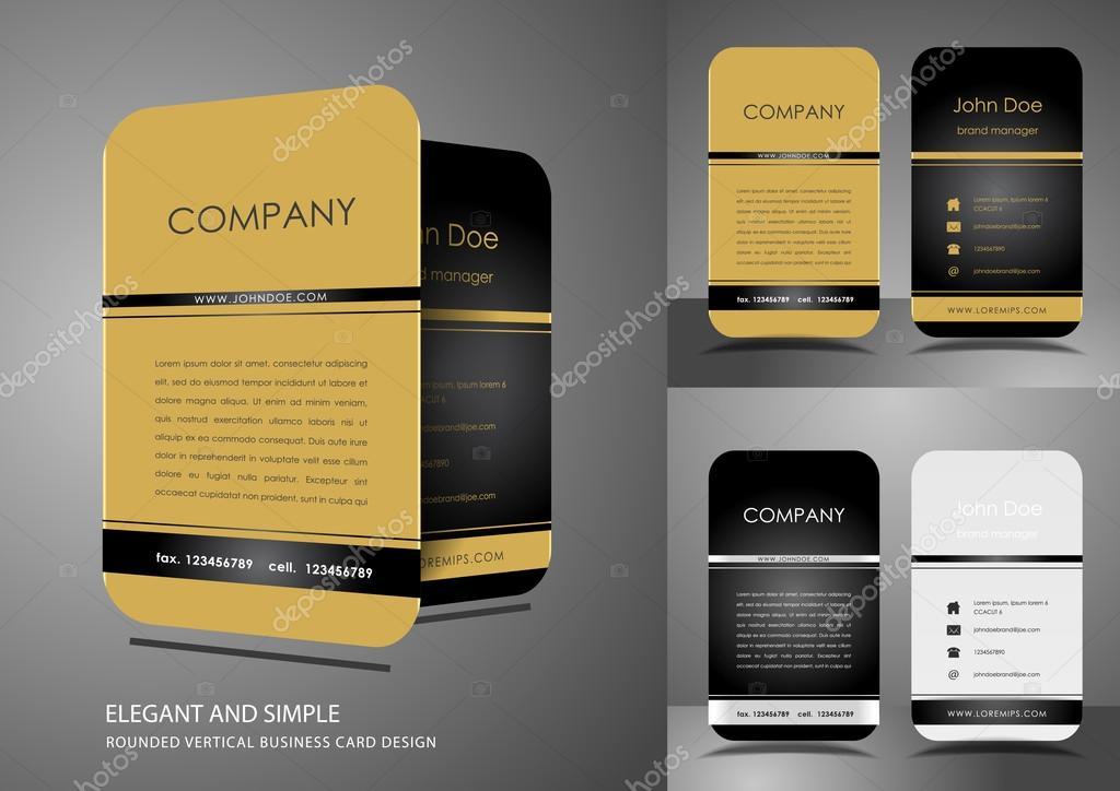 Visitenkarten Design In Gold Und Schwarz Stockvektor