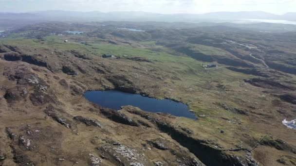 Aerial view of Lough Free at Dunmore Head by Portnoo in County Donegal, Ireland.