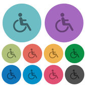Fotografie Color disability flat icons