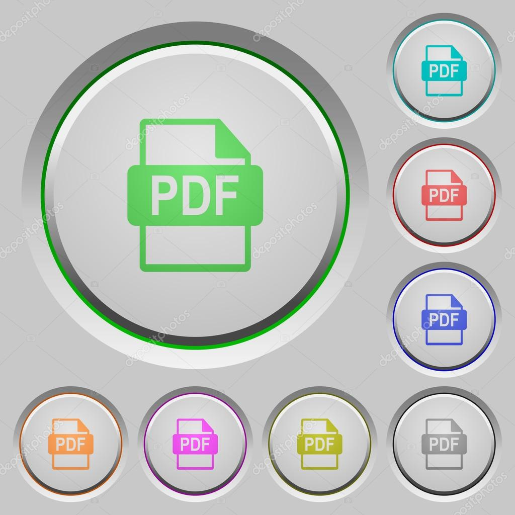 PDF file format push buttons — Stock Vector © renegadehomie #110208376