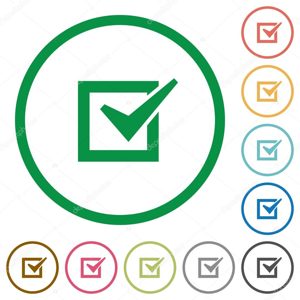 Checked box outlined flat icons stock vector renegadehomie checked box outlined flat icons stock vector biocorpaavc Gallery