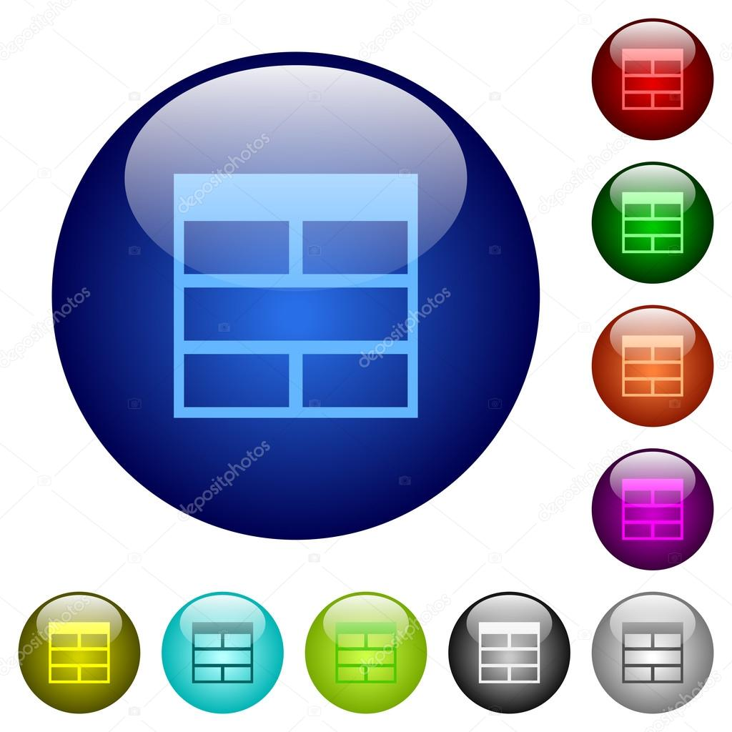Farbe-Arbeitsblatt zusammenführen horizontal Tabelle Zellen Glas ...