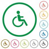 Fotografie Disability outlined flat icons
