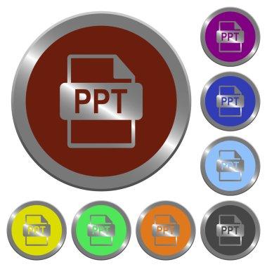 Color PPT file format buttons