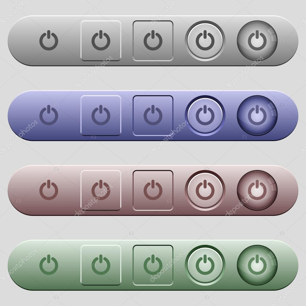 Power Schalter Symbole auf Menüleisten — Stockvektor © renegadehomie ...