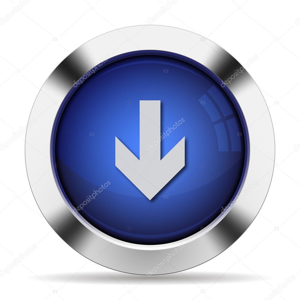 下向き矢印ボタン — ストックベクタ
