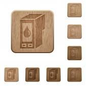 Inkoustové kazety dřevěné knoflíky