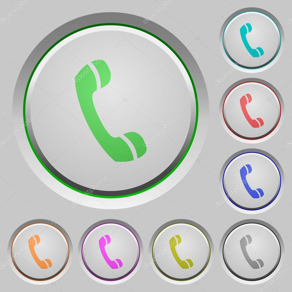 Blank call buttons — Stock Vector © renegadehomie #91368648