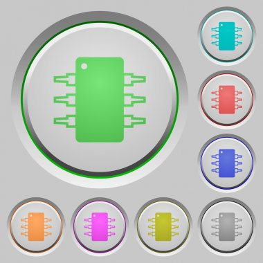 Integrated circuit push buttons