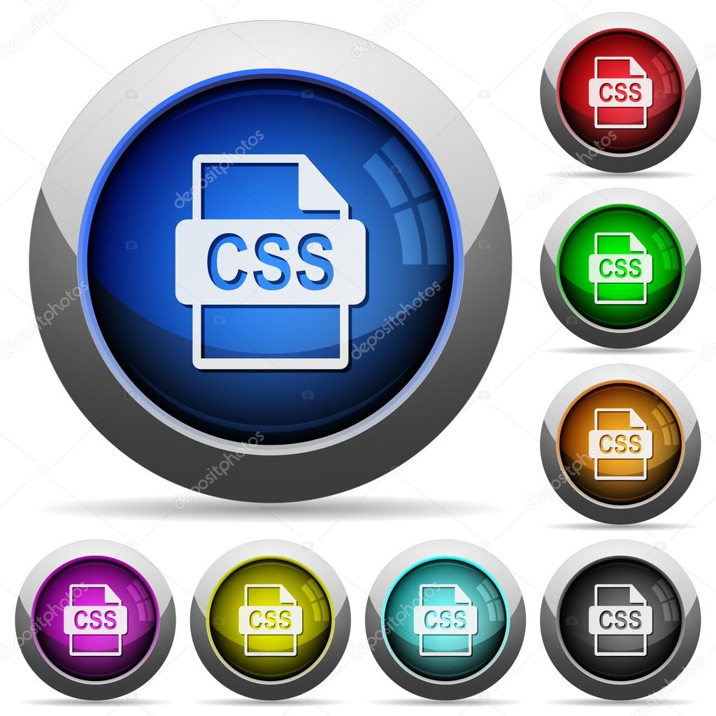 CSS file format button set — Stock Vector © renegadehomie #99114386