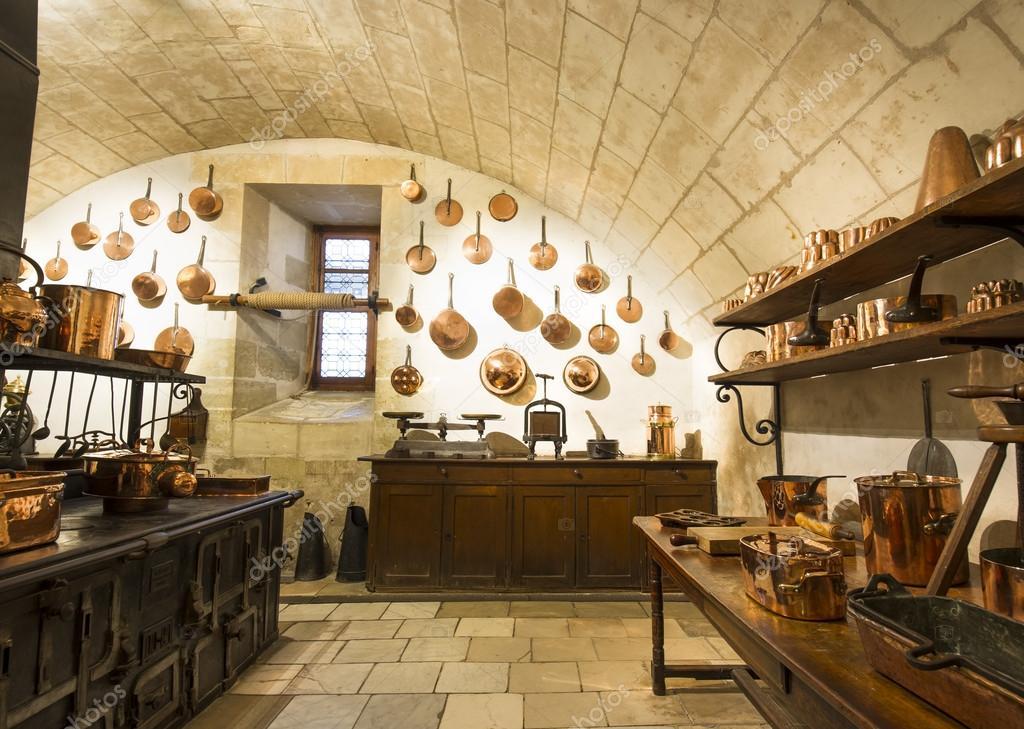 Vue intérieure, de Chenonceaux Château de cuisine — Photo éditoriale ...