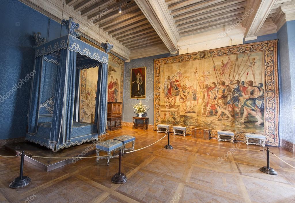 Interieur kamer van kasteel van chambord frankrijk for Interieur frans