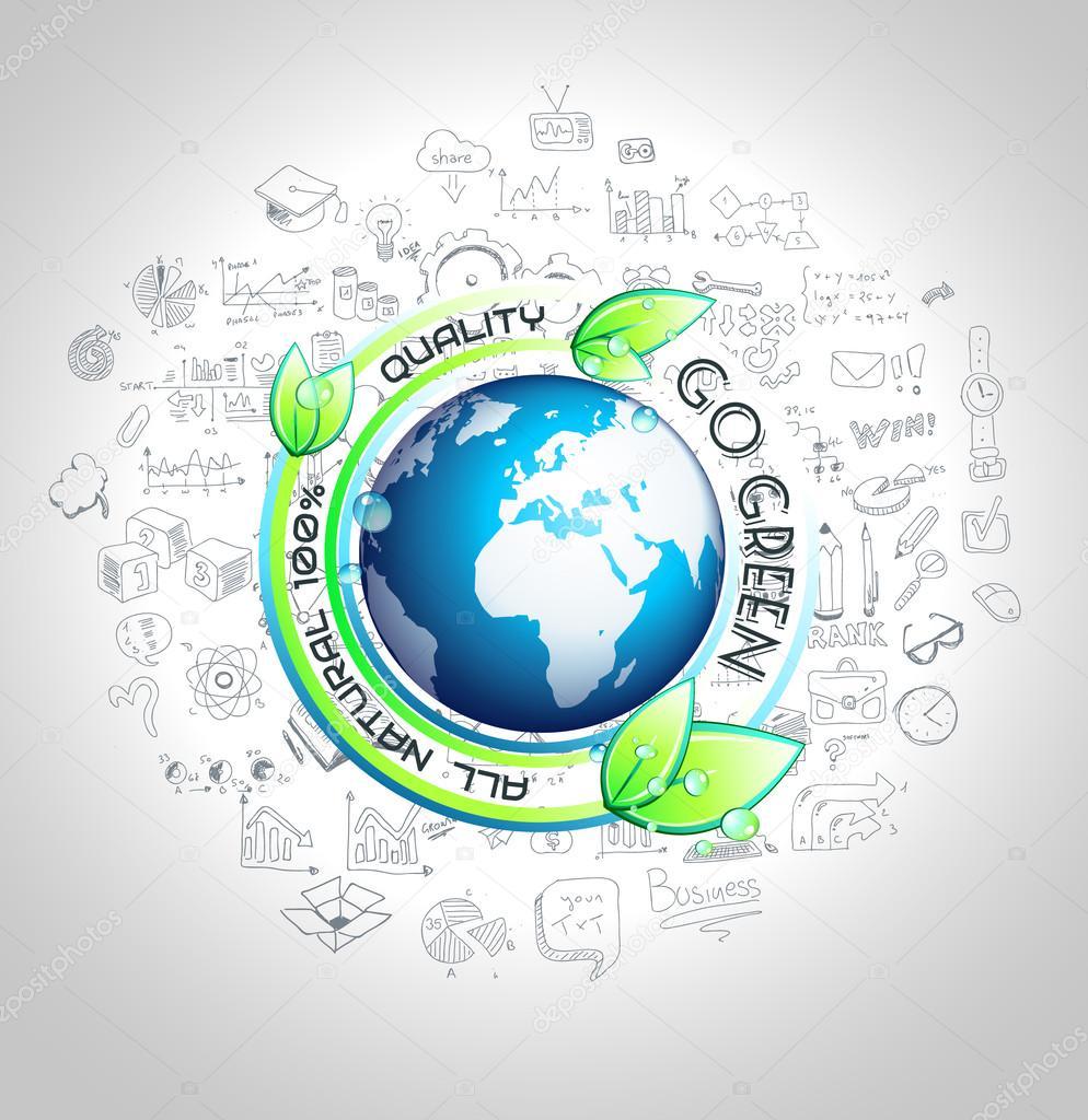 Go Green Conceptual background