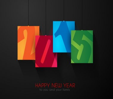 Original 2015 happy new year modern background