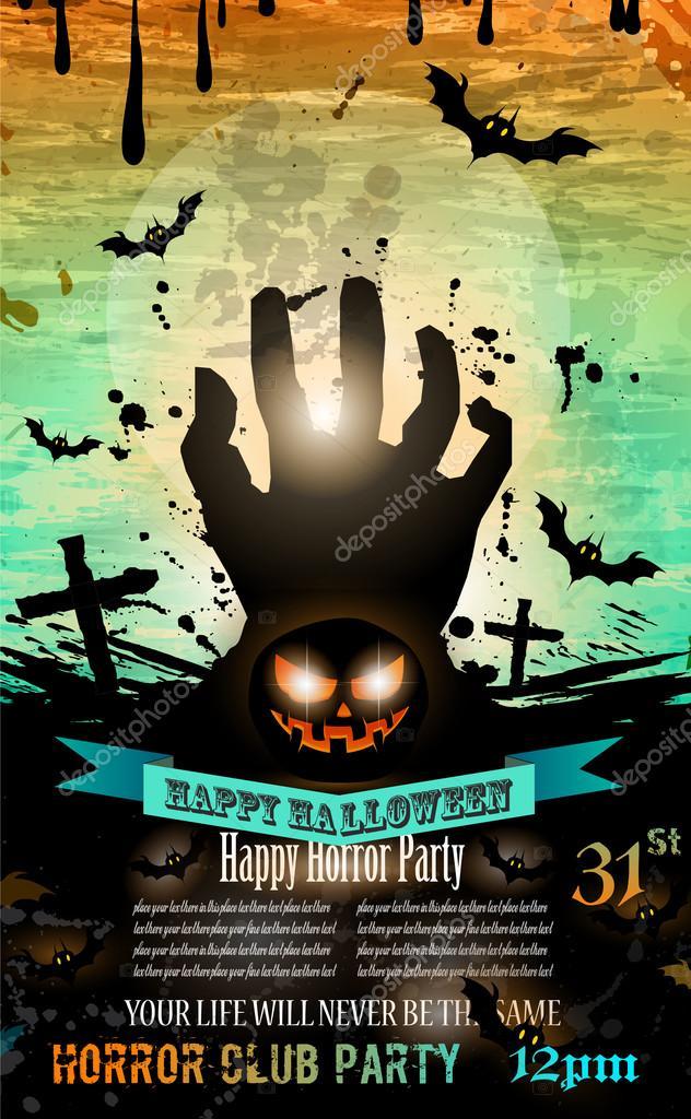 Halloween Party Flyer — Stock Vector © DavidArts #54281263