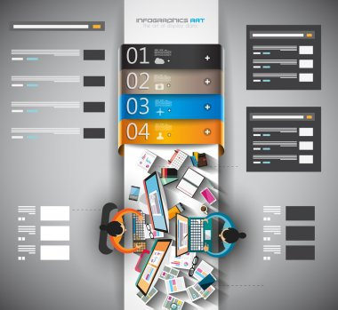 Infographic template with flat UI icons