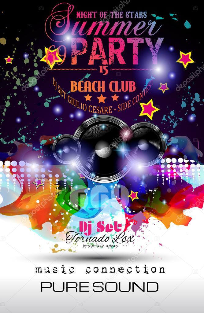 Disco night club flyer vector de stock davidarts 66142801 for Disco night club