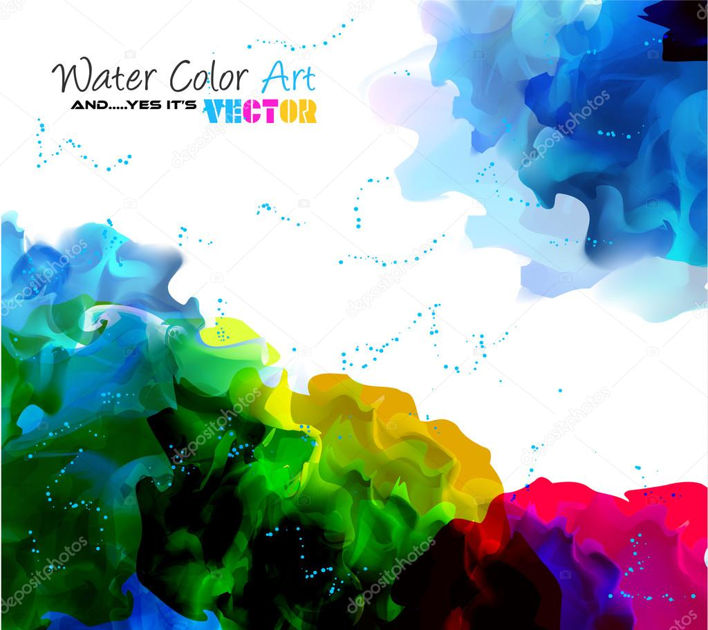 Watercolor Background for poster — Stock Vector © DavidArts