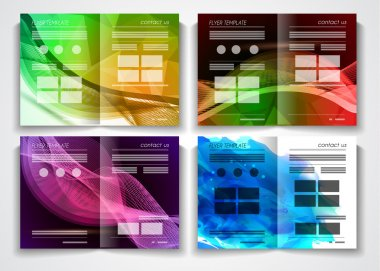 Brochure template design or flyer layout