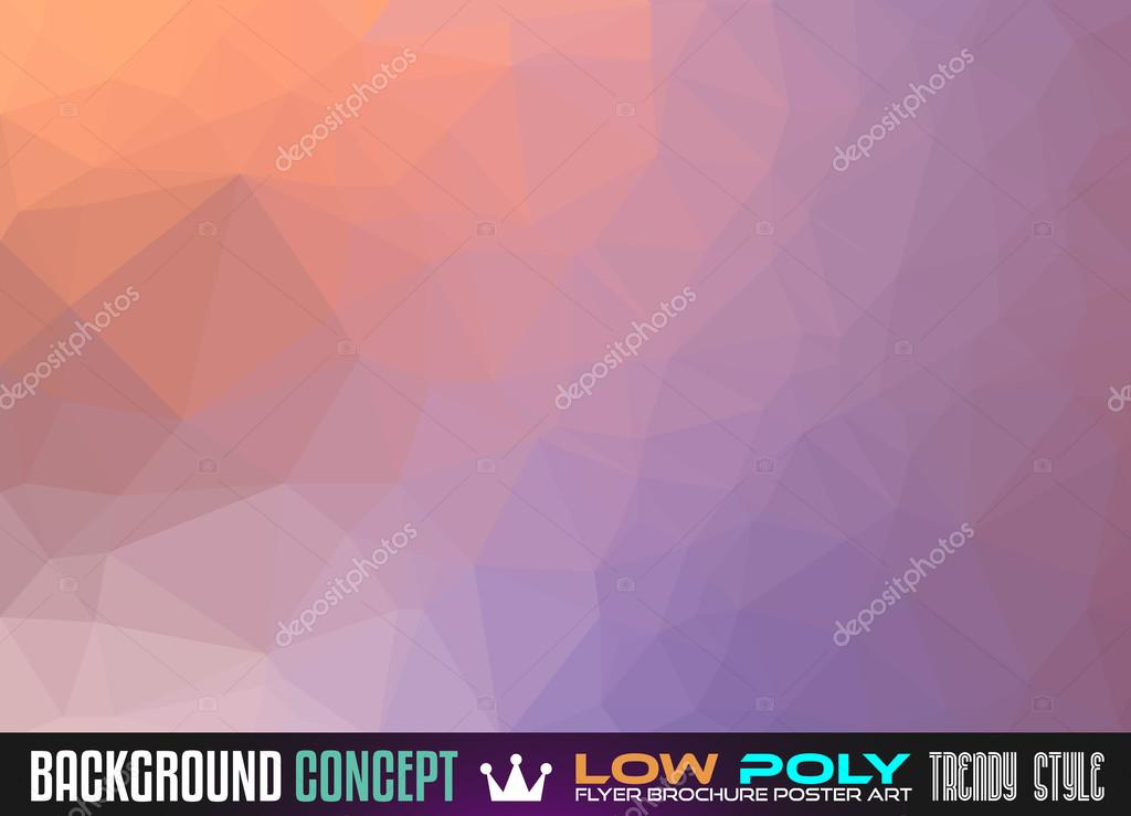 Low Poly Art background for polygonal flyer