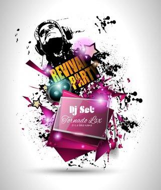 Disco Night Club Flyer layout