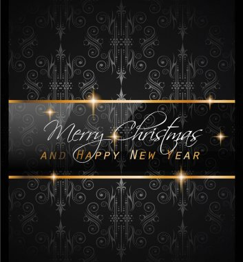 New Year and Happy Christmas backgroun
