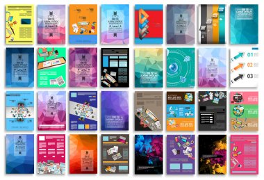Set of Flyers, background, infographics