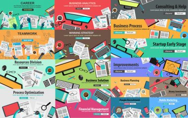Flat Style Design Concepts for business