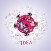 Lapos stílusú tervezési koncepciók, üzleti