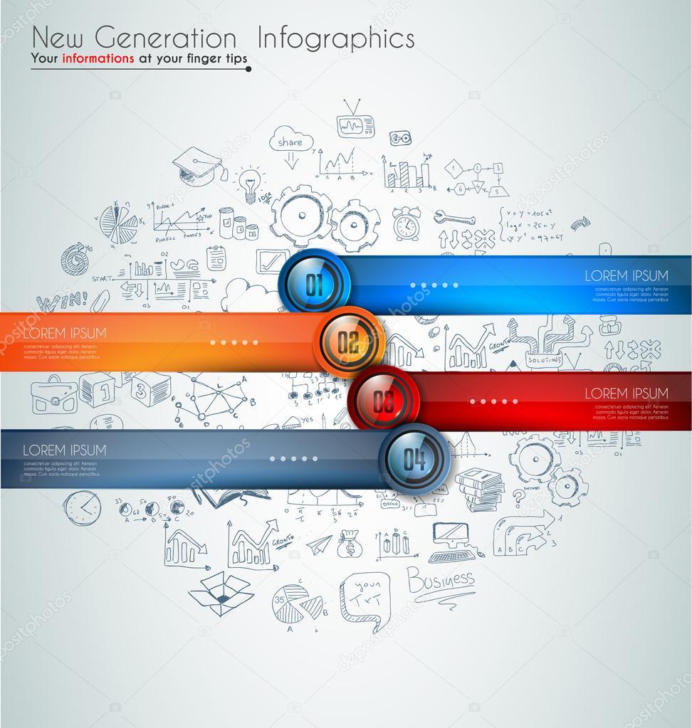 modernes Template, Daten und Informationen zu klassifizieren ...