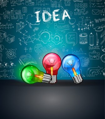 Conceptual LIght Bulb IDEA backgroud