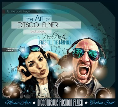 Club Disco Flyer Set with DJs