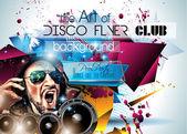 Klub Disco Flyer sada s Dj