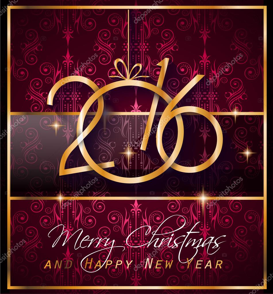 2016 happy new year background for your christmas dinner invitations festive posters restaurant menu cover book coverpromotional depliant
