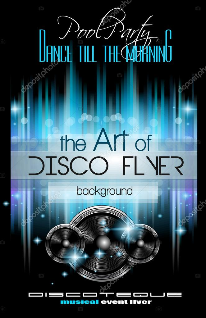 Disco Club Flyer Template  Stock Vector  Davidarts