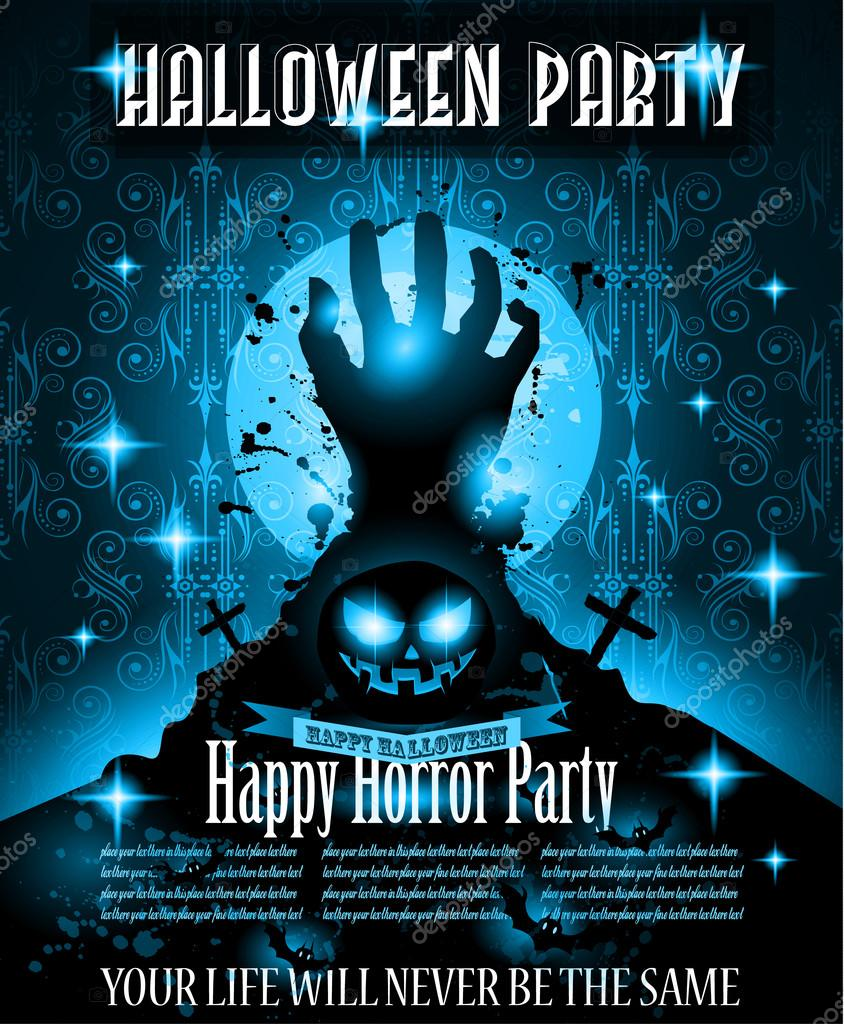 halloween night event flyer template ストックベクター davidarts
