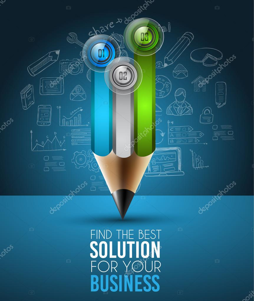 Best Business Solution Infographic Layout Template — Stock
