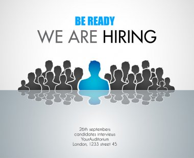 We Are Hiring background