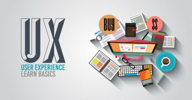 UX User Experience Background concept