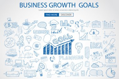 Business Growth Goals concet