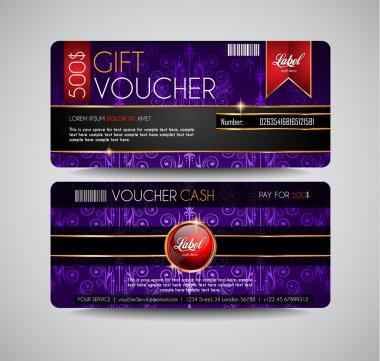 Voucher Gift Card layout template