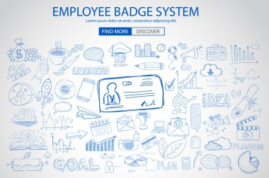 Employee Badge System concept