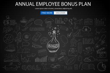 Employee Bonus Benefit Plan concept