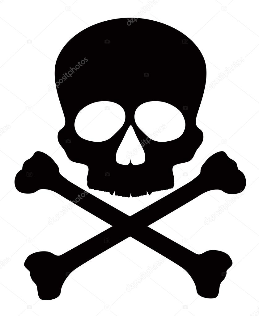 skull with crossbones vector illustration stock vector rh depositphotos com pirate skull and crossbones vector skull and crossbones vector free