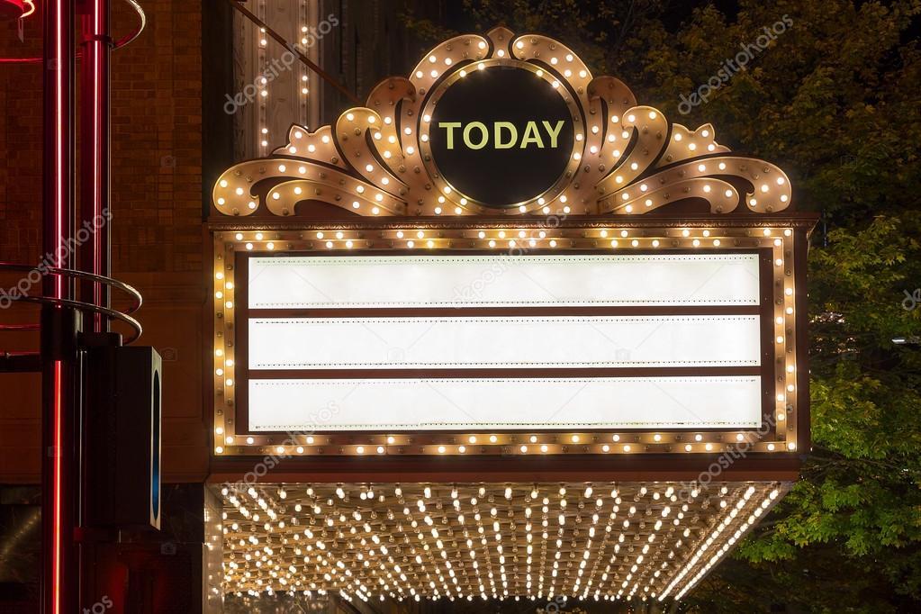Festzelt Lichter am Broadway Theater Exterieur — Stockfoto ...